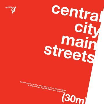 streets main central city - City of Melbourne