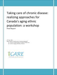 Final Report - Centre for Healthy Aging