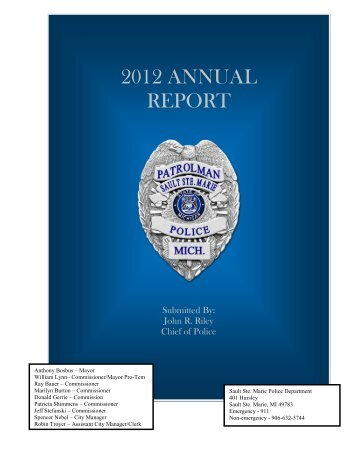 2012 ANNUAL REPORT - City of Sault Sainte Marie, Michigan