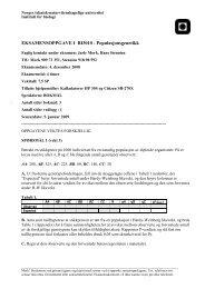 EKSAMENSOPPGAVE I BI3010 ... - Institutt for biologi