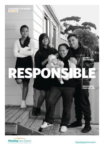 Statement of Intent 2013-2016 - Housing New Zealand