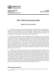 HIV/AIDS and mental health - World Health Organization