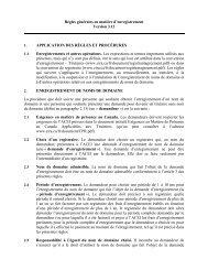 Règles générales en matière d'enregistrement Version 3.12 ... - CIRA
