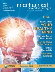 February 2012: Healthy Mind - Columbia Natural Awakenings–Home