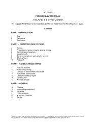 NO. 07-059 PARKS REGULATION BYLAW A BYLAW OF ... - Victoria