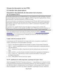 À l'intention des observateurs - Normes d'information financière et ...