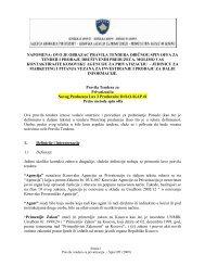 Pravila Tendera za Privatizaciju Novog Preduzeça Lux 3 Prodavnice ...
