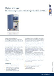 Chlorine dioxide production and metering system Bello ... - ProMinent
