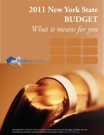 2011 New York State BUDGET What it means for you - LeadingAge ...