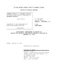 IN THE UNITED STATES COURT OF FEDERAL CLAIMS ... - Whale