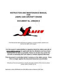 INSTRUCTION AND MAINTENANCE MANUAL FOR JABIRU 2200 ...