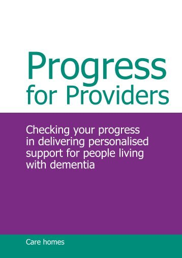 Progress for Providers Dementia - NHS Stockport Clinical ...