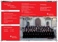 mit Bachchor und Bachorchester Mainz - Sparkasse Rhein-Nahe