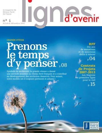 magazine Lignes d'avenir n° 1 - RFF