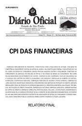 cpi das financeiras - Assembleia Legislativa do Estado de São Paulo
