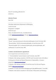 Short CV, including publication list 2010-01-12 Johannes Persson ...