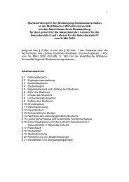 Studienordnung für den Studiengang Sozialwissenschaften - ZSB