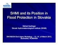 SHMI and its position in flood protection in Slovakia