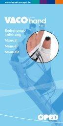 Bedienungs- anleitung Manual Manuel Manuale - VACO®hand