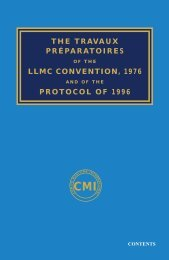 the travaux préparatoires llmc convention, 1976 protocol of 1996