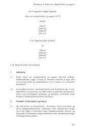 Der er dags dato indgået følgende aftale om vedligeholdelse og ...