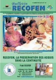 Bulletin d'information N°07 - RECOFEM