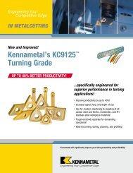 Kennametal's KC9125™ Turning Grade - Jan Havelka