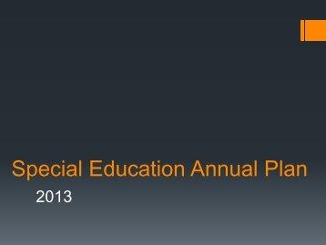 2013-2014 Special Education Plan - Henrico County Public Schools
