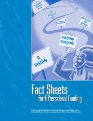 Fact Sheets for Afterschool Funding