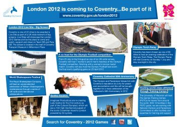 London 2012 is coming to Coventry...Be part of it - Coventry 2012