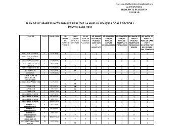 pentru anul 2013 plan de ocupare functii publice realizat la nivelul ...