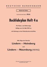 Buchfahrplan Heft 4 a - Krefelder Eisenbahn Gesellschaft