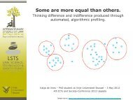 Some are more equal than others. - The ICTs and Society Network