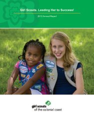 2012 Annual Report - Girl Scout Council - Colonial Coast