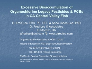 Excessive Bioaccumulation of Organochlorine Legacy Pesticides ...