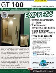 GT 100_Express - Global Tardif Groupe manufacturier d'ascenseurs