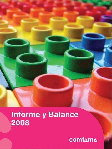 Informe y Balance 2008 - Comfama
