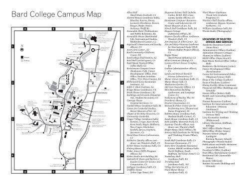 Bard College Campus Map