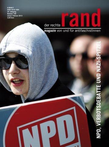 NPD, VErbotSDEbattE u ND NazI-SPItzEl - Der Rechte Rand