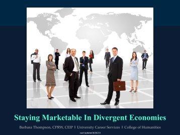 Staying Marketable In Divergent Economies - University Career ...