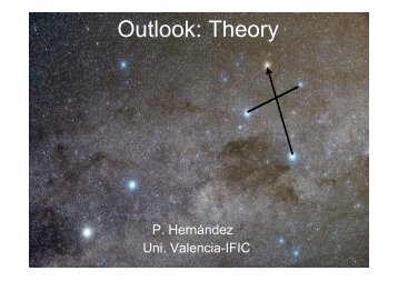 Outlook: Theory