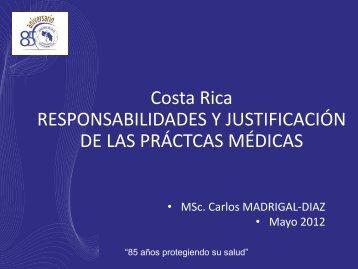 Costa Rica RESPONSABILIDADES Y JUSTIFICACIÓN DE ... - gnssn