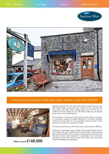 Causeway House Craft Shop & Café, Back Street, Castleton ... - Vebra