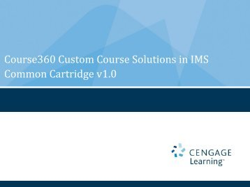 Cengage PowerPoint Template - IMS Global Learning Consortium