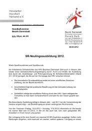 SR-Lehrgang 2012 - Ausschreibung - Bezirk Darmstadt