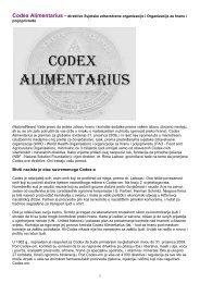 Codex Alimentarius - znakovi vremena