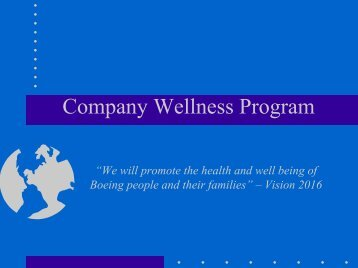 Company Wellness Program - Speea