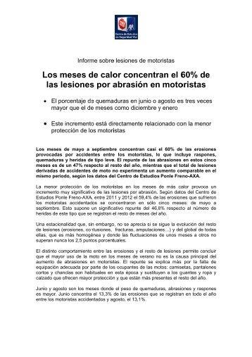 Informe sobre lesiones de motoristas - Axa