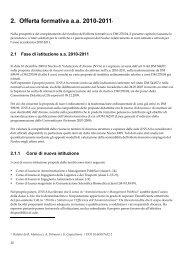 2. Offerta formativa a.a. 2010-20114 - Sapienza