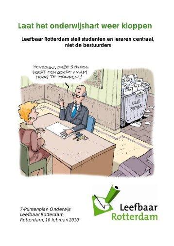 Laat het onderwijshart weer kloppen - Leefbaar Rotterdam